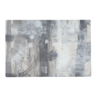 Contemporary Grey Painting Laminated Place Mat