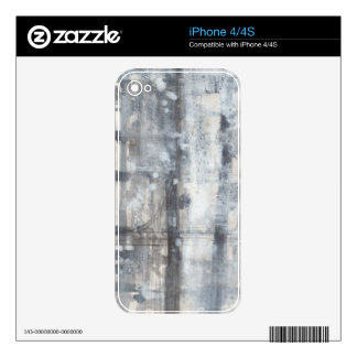 Contemporary Grey Painting Skin For iPhone 4S