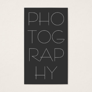 Contemporary Grey Photography Business Card