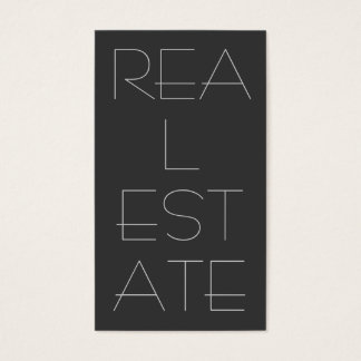 Contemporary Grey Real Estate Business Card