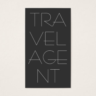 Contemporary Grey Travel Agent Business Card