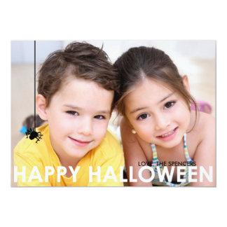 Contemporary Halloween Photo Card