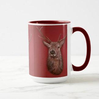 Contemporary Highland Red Deer Stag Mug