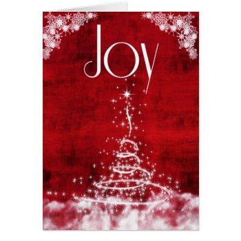 Contemporary Holiday Joy Card