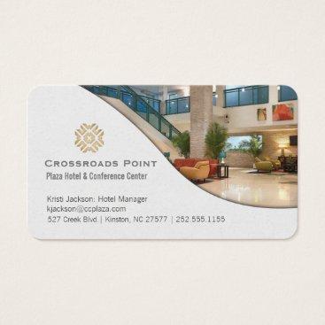 Beach Themed Contemporary Hotel Lobby Business Card