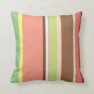 Contemporary Ice Cream Stripe Throws Pillows