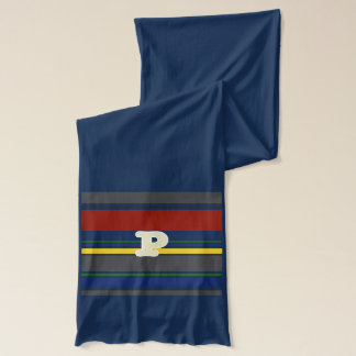 Contemporary Initialed Ivy League Scarf