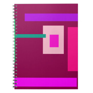 Contemporary Jazzberry Jam Spiral Notebook