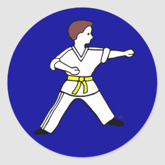 Contemporary Karate Kid 11 blue stickers