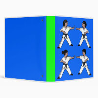 Contemporary Karate Kid African Amer Design Binder
