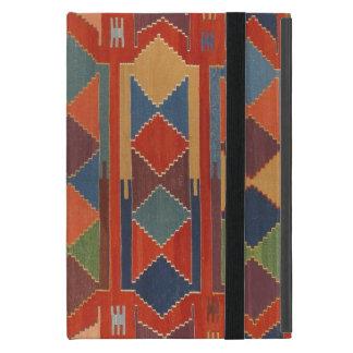 Contemporary Kilim Pattern Orange Blue Green iPad Mini Cover