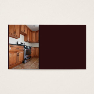 contemporary kitchen in new construction business card