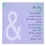 Contemporary Lavender Personalized Invites