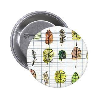 Contemporary Leaf Badge Design Button