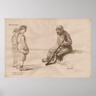 "Contemporary ""L'Ecole des Heros"" 1916 - WW1 Poster"