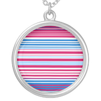Contemporary light blue pink and white stripes jewelry