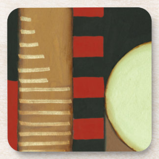 Contemporary Loft Style Paneled Painting Drink Coaster