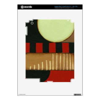 Contemporary Loft Style Paneled Painting Skins For iPad 3