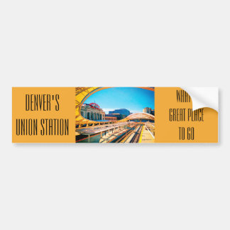 Contemporary Look of Union Station, Denver, CO Car Bumper Sticker