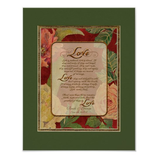 Contemporary Love Chapter 1 Corinthians 13 Poster