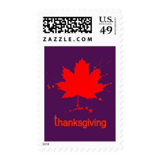 Contemporary Maple Leaf Art Postage Stamp
