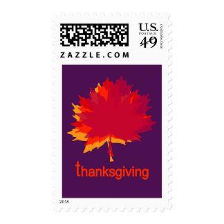 Contemporary Maple Leaf Art Stamps