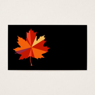 Contemporary Maple Leaf Business Card