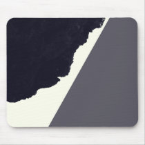 Contemporary Minimalistic Black and White Art Mouse Pad