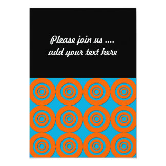 Contemporary Modern Design Orange Blue Circles Card