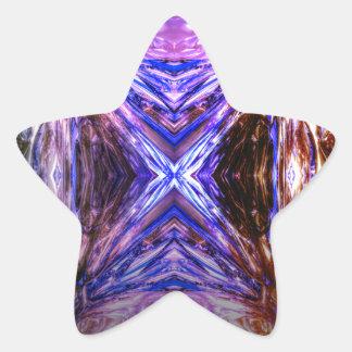 contemporary modern digital art the frame star sticker
