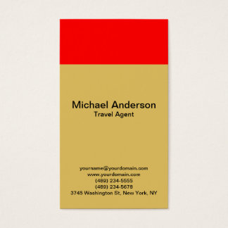 Contemporary Modern Travel Agent Business Card
