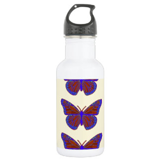 Contemporary Monarch Butterflies by Sharles Stainless Steel Water Bottle
