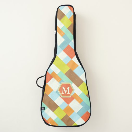Contemporary Monogram block pattern Guitar Case