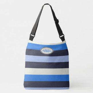 Contemporary Monogram Cool Blues stripes Crossbody Bag