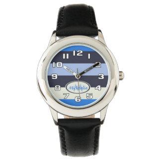 Contemporary Monogram Cool Blues stripes Wristwatches