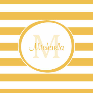 f57057b1b2b Contemporary Named Mimosa Yellow Awning Stripes Paper Plate
