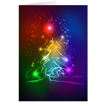 Contemporary Neon Christmas Tree Card