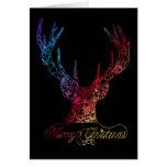 Contemporary Neon Reindeer Card