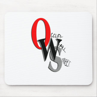 Contemporary Occupy Wall Street Mouse Pad