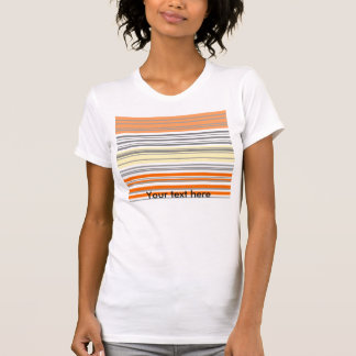Contemporary orange and yellow horizontal stripes shirt