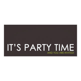 Contemporary Party Time Birthday Invitations
