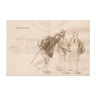 "Contemporary ""Passage de Guerre II"" 1915 - WW1 Canvas Print"