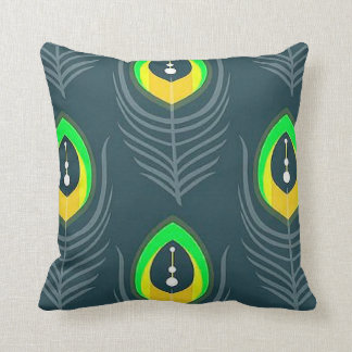 Contemporary Peacock Eye Throw Pillow