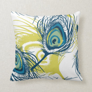 Contemporary Peacock Feather Pillow Style 3