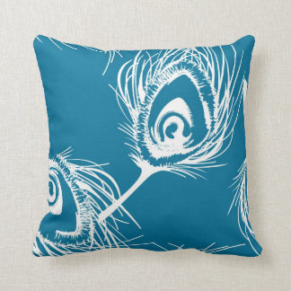 Contemporary Peacock Feather Pillow Style 4