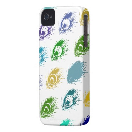 Contemporary Peacock feathers print iPhone 4 Cover