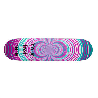 Contemporary pink and baby blue funnel skate decks