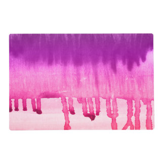 Contemporary Pink Purple Watercolor Ombre Placemat