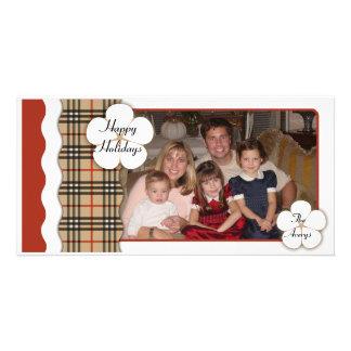 Contemporary Plaid Holiday Photo Cards