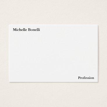 Beach Themed Contemporary Plain Simple White Minimalist Modern Business Card